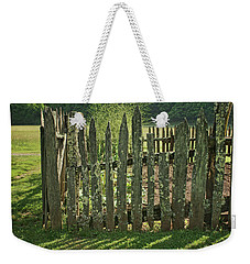 Weekender Tote Bag featuring the photograph Garden - Fence by Nikolyn McDonald