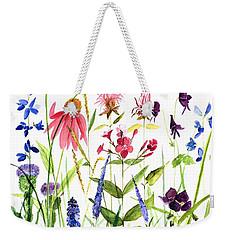 Garden Flowers Weekender Tote Bag by Laurie Rohner
