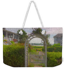 Garden Gate Falmouth Massachusetts Weekender Tote Bag