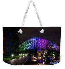 Weekender Tote Bag featuring the photograph Garden Globe At Night by Andrea Silies