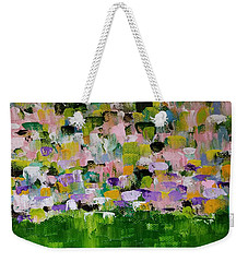 Weekender Tote Bag featuring the painting Garden Glory by Judith Rhue