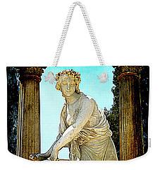 Weekender Tote Bag featuring the photograph Garden Goddess by Lori Seaman