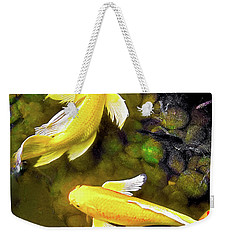 Weekender Tote Bag featuring the photograph Garden Goldenfish by James Fannin