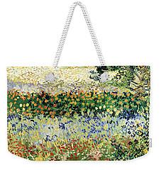 Weekender Tote Bag featuring the painting Garden In Bloom by Van Gogh