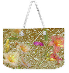 Garden In Gold Leaf2 Weekender Tote Bag