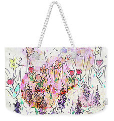 Weekender Tote Bag featuring the painting Garden Of Hope  by Claire Bull