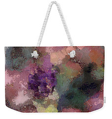 Weekender Tote Bag featuring the mixed media Garden Of Love by Trish Tritz