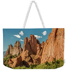 Weekender Tote Bag featuring the photograph Garden Of The Gods by Bill Gallagher