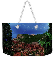 Weekender Tote Bag featuring the digital art Garden Of The Gods by Chris Flees