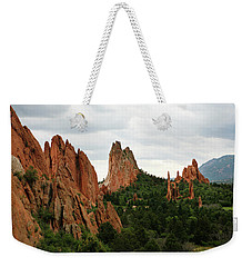 Weekender Tote Bag featuring the photograph Garden Of The Gods Geology by Marilyn Hunt