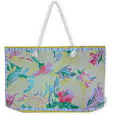 Garden Party Floorcloth Weekender Tote Bag