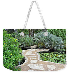 Weekender Tote Bag featuring the photograph Garden Path  by James Fannin