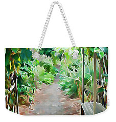 Garden Path Weekender Tote Bag by Pamela Walton
