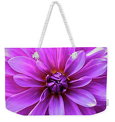 Weekender Tote Bag featuring the photograph Garden Pink by Jessica Manelis