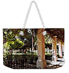 Weekender Tote Bag featuring the photograph Garden Promenade - San Fernando Mission by Glenn McCarthy Art and Photography