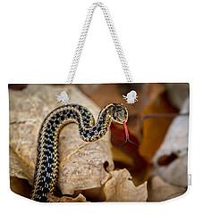 Garden Snake Weekender Tote Bag by Eleanor Abramson
