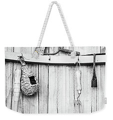 Weekender Tote Bag featuring the photograph Garden Tools by Rebecca Cozart