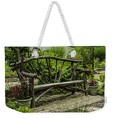 Garden Tree Bench Weekender Tote Bag