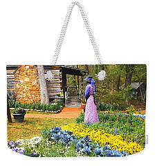 Weekender Tote Bag featuring the painting Garden Walk by Donna Dixon