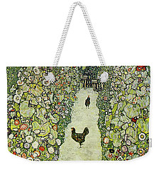 Garden With Chickens Weekender Tote Bag
