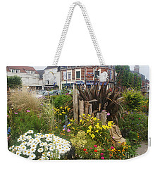 Weekender Tote Bag featuring the photograph Gardens At Albert Train Station In France by Therese Alcorn