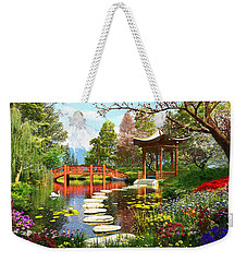Gardens Of Fuji Weekender Tote Bag by Dominic Davison
