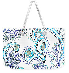 Weekender Tote Bag featuring the drawing Gardens by Carole Brecht