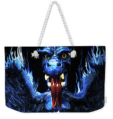 Weekender Tote Bag featuring the photograph Gargoyle by Jim and Emily Bush