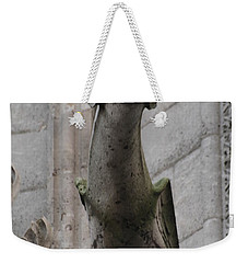 Weekender Tote Bag featuring the photograph Gargoyle Notre Dame by Christopher Kirby