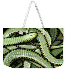Garter Snakes Pattern Weekender Tote Bag by James Larkin