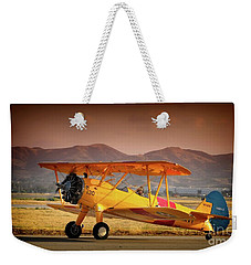 Gary Peters Boeing Stearman Kaydet 2016 Planes Of Fame Version 2 Weekender Tote Bag