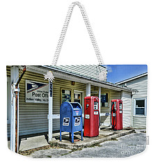 Weekender Tote Bag featuring the photograph Gas And Mail by Paul Ward