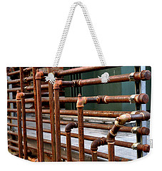 Gas Pipes And Fittings Weekender Tote Bag