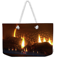 Gas Stove Flame Weekender Tote Bag