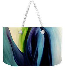 Weekender Tote Bag featuring the painting Gate To The Garden  By Paul Pucciarelli by Iconic Images Art Gallery David Pucciarelli