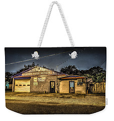 Weekender Tote Bag featuring the photograph Gates Auto Repair by David Morefield