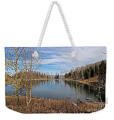 Gates Lake Weekender Tote Bag by Cindy Murphy - NightVisions