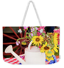 Gathered From The Trail Weekender Tote Bag by Toni Hopper