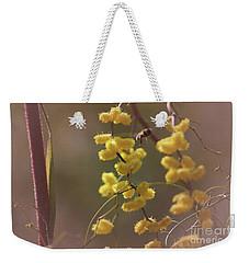 Gathering Pollen Weekender Tote Bag by Cassandra Buckley