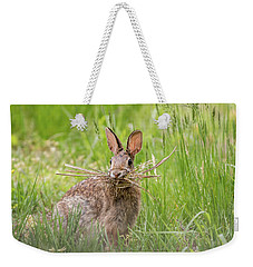 Gathering Rabbit Weekender Tote Bag by Terry DeLuco