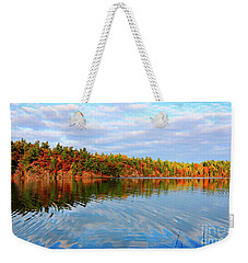 Gatineau Park Autumn Landscape Weekender Tote Bag by Charline Xia