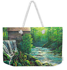 Weekender Tote Bag featuring the painting Gatlinburg  Tenessee Mill by Lou Ann Bagnall
