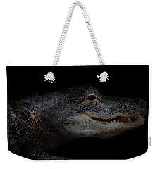 Gator In Black Weekender Tote Bag