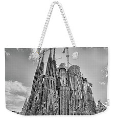Gaudi La Sagrada Blk Wht Weekender Tote Bag