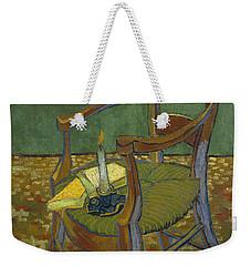 Weekender Tote Bag featuring the painting Gauguin's Chair by Van Gogh