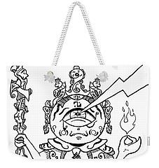 Gautama Buddha Black And White Weekender Tote Bag