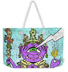 Gautama Buddha Colour Illustration Weekender Tote Bag