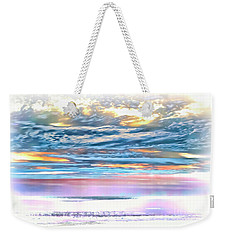 Weekender Tote Bag featuring the photograph Gauzy Sunset by Walt Foegelle