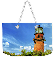 Weekender Tote Bag featuring the painting Gay Head Lighthouse by Christopher Arndt