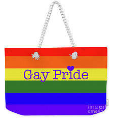 Gay Pride Love Weekender Tote Bag